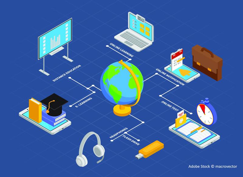 Digital Konzept Schule Lernen E-Learning Homeschool