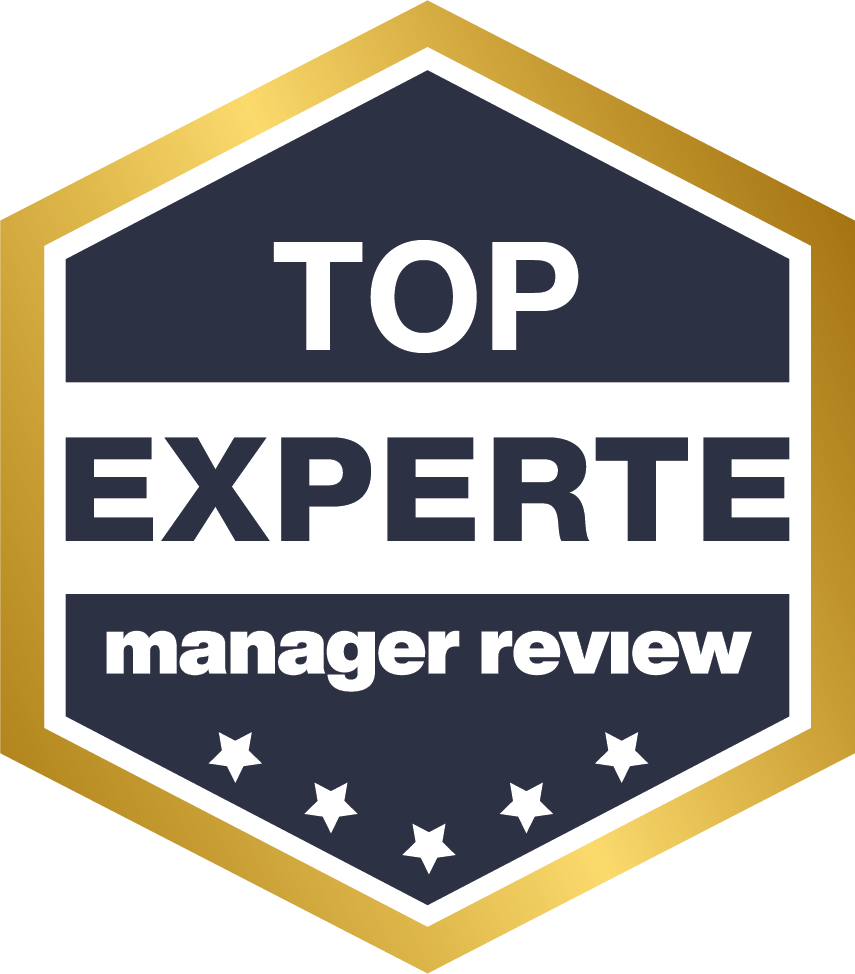 "Qualitätssiegel ""TOP EXPERTE"" vom Manager Review"